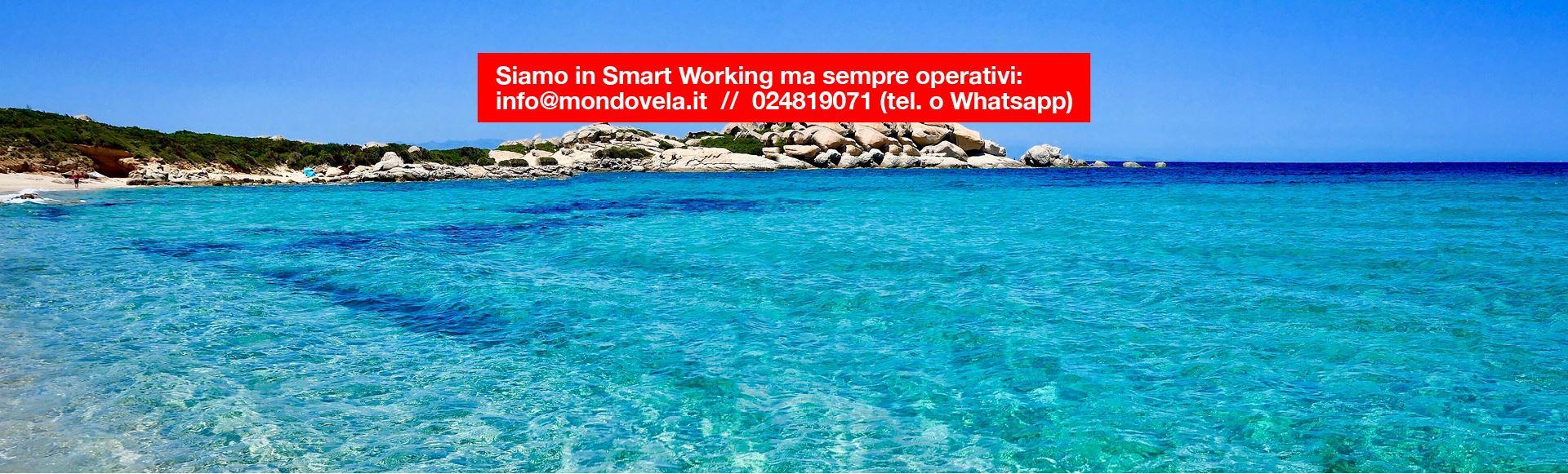 Splendido panorama alle Seychelle durante una vacanza in barca a vela, a dicembre. Siamo in  Smart Working, ma operativi.