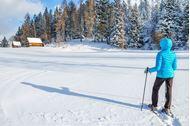 Ponte dell'Immacolata sulla neve in Alta Badia